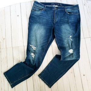 Ava & Viv Distressed Skinny Jeans size 20
